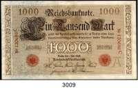 P A P I E R G E L D,K A I S E R R E I C H 1000 Mark 1.7.1898.  A/C.  Ros. DEU-14.