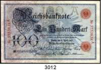P A P I E R G E L D,K A I S E R R E I C H 100 Mark 17.04.1903.  A/A.  Ros.DEU-16.