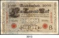 P A P I E R G E L D,K A I S E R R E I C H 1000 Mark 10.10.1903.  B/B.  Ros. DEU-19.