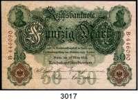 P A P I E R G E L D,K A I S E R R E I C H 50 Mark 10.3.1906.  Y/B.  Ros.DEU-22 a.