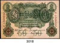P A P I E R G E L D,K A I S E R R E I C H 50 Mark 10.3.1906.  M/C.  Ros.DEU-22 b.