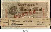P A P I E R G E L D,K A I S E R R E I C H 1000 Mark 21.4.1910.  U/N.  Muster aus der Serie.  Ros. DEU-40 M 2.