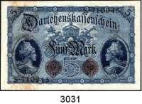 P A P I E R G E L D,K A I S E R R E I C H 5 Mark 5.8.1914.  KN 6-stellig.  Serie: S.  Ros. DEU-54 a.