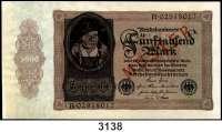 P A P I E R G E L D,Weimarer Republik 5000 Mark 19.11.1922.  Serie B und Muster (kassenfrisch) aus der Serie B (beidseitig roter Aufdruck