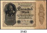 P A P I E R G E L D,Weimarer Republik 1000 Mark 15.12.1922.  Reichsdruckerei.  Serie: H.  Bogenzeichen 3.  Ros. DEU-92 b 3.