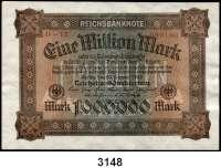 P A P I E R G E L D,Weimarer Republik 1 Million Mark 20.2.1923.  FZ: YZ.  Ros. DEU-96 b.