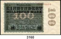P A P I E R G E L D,Weimarer Republik 100 Millionen Mark 22.8.1923.  FZ rotbraun CD.  KN 8-stellig.  Ros. DEU-120 t.