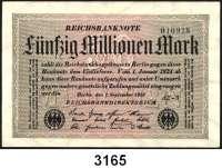 P A P I E R G E L D,Weimarer Republik 50 Millionen Mark 1.9.1923.  LOT von 14 verschiedenen Varianten.  Dabei u.a. Ros. DEU-123 e, i.