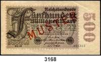 P A P I E R G E L D,Weimarer Republik 500 Millionen Mark 1.9.1923.  FZ FG.  KN 6-stellig.  Mit vorderseitigem roten Aufdruck
