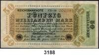 P A P I E R G E L D,Weimarer Republik 50 Milliarden Mark 10.10.1923.  Ros. DEU-142 a, b, c, d, e(gebraucht).  LOT 5 verschiedene Scheine.