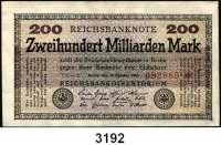 P A P I E R G E L D,Weimarer Republik 200 Milliarden Mark 15.10.1923.  Ros. DEU-143 b, g(4), h.  LOT 6 verschiedene Scheine.