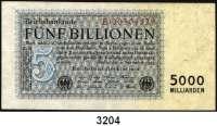 P A P I E R G E L D,Weimarer Republik 5 Billionen Mark 1.11.1923.  Serie: B.  Ros. DEU-156 a.