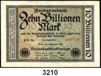P A P I E R G E L D,Weimarer Republik 10 Billionen Mark 1.11.1923.  FZ: WB-54.  Ros. DEU-160 b.