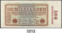 P A P I E R G E L D,Weimarer Republik 100 Milliarden Mark 5.11.1923.  DEU-161 a(ksfr.), b(gebr.), c(ksfr).  LOT 3 Scheine.
