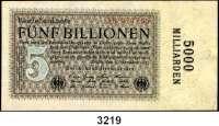 P A P I E R G E L D,Weimarer Republik 5 Billionen Mark 7.11.1923.  FZ: 3 H.  Ros. DEU-164 b.