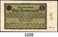 P A P I E R G E L D,R E N T E N B A N K 1 Rentenmark 1.11.1923.  KN 6-stellig.  FZ: WB-43.  Ros. DEU 199 b.