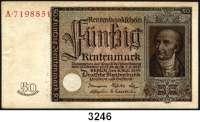 P A P I E R G E L D,R E N T E N B A N K 50 Rentenmark 6.7.1934.  Stein.  Serie: A.  Ros. DEU-221.