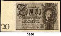 P A P I E R G E L D,R E I C H S B A N K 20 Reichsmark  22.1.1929.  Ros. DEU-184 a(5), b(2), c(2), d(ksfr.).  LOT 10 Scheine.