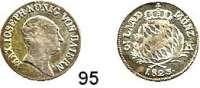 Deutsche Münzen und Medaillen,Bayern Maximilian I. Josef (1799) 1806 - 18253 Kreuzer 1823.  AKS 53.  Jg. 9.