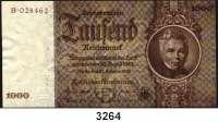 P A P I E R G E L D,R E I C H S B A N K 1000 Reichsmark 22.2.1936.  E/B.  KN links oben braun.  Ros. DEU-212 F.