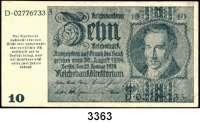 P A P I E R G E L D,Notausgaben Frühjahr 1945 Reichsbankstellen Graz, Linz und Salzburg10 Reichsmark 22.1.1929.  Photomechanisch hergestellt.  Nicht entwertet.  Ros. DEU-255 a.