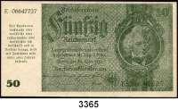 P A P I E R G E L D,Notausgaben Frühjahr 1945 Reichsbankstellen Graz, Linz und Salzburg50 Reichsmark 30.3.1933.  Photomechanisch hergestellt.  Nicht entwertet.  Ros. DEU-257 a.