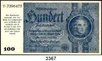 P A P I E R G E L D,Notausgaben Frühjahr 1945 Reichsbankstellen Graz, Linz und Salzburg100 Reichsmark 24.6.1935.  Photomechanisch hergestellt. Nicht entwertet.  Ros. DEU-258 a.