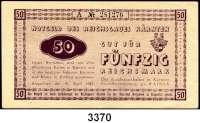 P A P I E R G E L D,Notausgaben Frühjahr 1945 Reichsgau Kärnten50 Reichsmark 15.4.1945.  Serie: A 281726.  Ros. DEU-263.