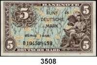 P A P I E R G E L D,BUNDESREPUBLIK DEUTSCHLAND 5 Deutsche Mark 1948.
