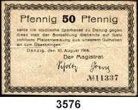 P A P I E R G E L D,D A N Z I G 50 Pfennig 10.8.1914.  Unentwertet.  Dießner 73.1.a.