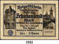 P A P I E R G E L D,D A N Z I G 10.000 Mark 20.3.1923. Ros. DAN-20.