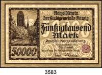 P A P I E R G E L D,D A N Z I G 50.000 Mark 20.3.1923.  Ros. DAN-22.