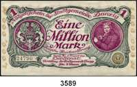 P A P I E R G E L D,D A N Z I G 1 Million Mark 8.8.1923.  Ros. DAN-26 b.