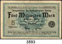 P A P I E R G E L D,D A N Z I G 5 Milliarden Mark  11.10.1923.  Ros. DAN-33 a.