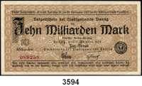P A P I E R G E L D,D A N Z I G 10 Milliarden Mark  11.10.1923.  Ros. DAN-34 b.