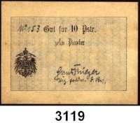 P A P I E R G E L D,B E S A T Z U N G S A U S G A B E N     I. W E L T K R I E G Militärausgaben der Georgischen Legion Samsun (Türkei)10 Piaster o.D.  Ros. No. 153(handschriftlich).  EWK-103 c.