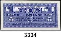 P A P I E R G E L D,Wehrmachtsausgaben des II. Weltkrieges Behelfszahlungsmittel für die Deutsche Wehrmacht1 Reichspfennig o.D.  Ros. DWM-2 b.