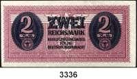 P A P I E R G E L D,Wehrmachtsausgaben des II. Weltkrieges Behelfszahlungsmittel für die Deutsche Wehrmacht2 Reichsmark o.D.  Ros. DWM-7.
