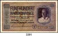 P A P I E R G E L D,Besatzungsausgaben des II. Weltkrieges Zentralnotenbank Ukraine 19421 bis 500 Karbowanez 10.3.1942 (ohne 2 Karbowanez).  Ros. ZWK-47, 49, 50, 51 a, b, 52 a, 53 a, 54 b, 55.  LOT 9 Scheine