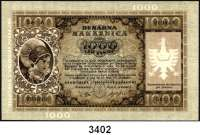 P A P I E R G E L D,Besatzungsausgaben des II. Weltkrieges Sparkasse der Provinz Laibach 19441000 Lire 14.9.1944.  Serie A.   Ros. ZWK-73.