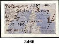 P A P I E R G E L D,Besetzung der Britischen Kanalinseln 1940-1944 Jersey 1941/19421 Shilling o.D.  KN 5-stellig.  Ros. ZWK-100 e.