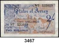 P A P I E R G E L D,Besetzung der Britischen Kanalinseln 1940-1944 Jersey 1941/19422 Shillings o.D.  KN 6-stellig.  Ros. ZWK-101 f.