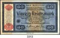 P A P I E R G E L D,Konversionskasse für Deutsche Auslandsschulden 40 Reichsmark 28.8.1933/1934.  Perforation