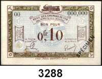 P A P I E R G E L D,Franz.-Belg.Eisenbahnverwaltung im besetzten Rheinland 1923 5x 0,10 Franc o.D.  Serie B5, C1, D3, B21, 00(Fleck) mit vorderseitigem Überdruck