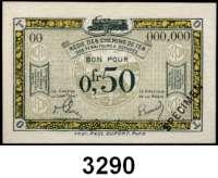 P A P I E R G E L D,Franz.-Belg.Eisenbahnverwaltung im besetzten Rheinland 1923 5x 0,50 Franc o.D.  Serie A2(gebr.), C4, E2(gebr.), B21, 00 mit vorderseitigem Überdruck