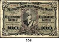 P A P I E R G E L D,D E U T S C H E      K O L O N I E N Deutsch-Ostafrika100 Rupien 15.6.1905.  KN 4-stellig.  Ros. DOA-4 a.