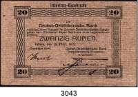 P A P I E R G E L D,D E U T S C H E      K O L O N I E N Deutsch-Ostafrika20 Rupien 15.3.1915.  Typ 1.  Unterschrift violett.  Ros. DOA-7 b.