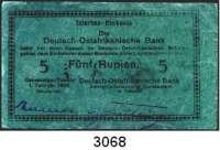 P A P I E R G E L D,D E U T S C H E      K O L O N I E N Deutsch-Ostafrika5 Rupien 1.2.1916.  Serie: H.  Ros. DOA 35 l.