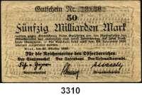 P A P I E R G E L D,Militärgeld Reichsmarine des Ostseebereichs Kiel 192350 Milliarden Mark 27.10.1923.  Gutschein Nr. 13188.  Ros. MIL-8 b.