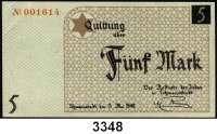 P A P I E R G E L D,L A G E R G E L D Litzmannstadt5 Mark 15.5.1940.  Ros. GET-4 a.  Grabowski Li 4a.
